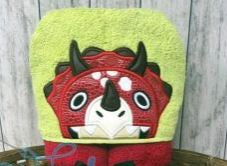 Fortnite Friends- Triceratops Hooded Towel