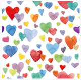 Watercolor Rainbow Hearts Bummies