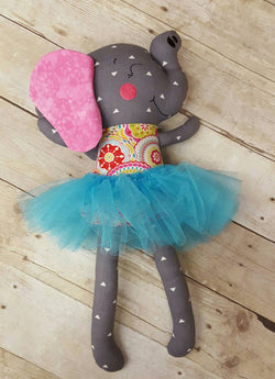 Stuffed Elephant, Plush Elephant, Stuffed Animal, Custom Doll, Elephant Stuffie, Baby Gift, Elephant Baby Gift, Baby Shower Gift, Rag Doll