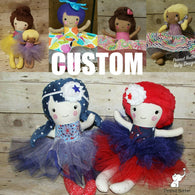 Custom Handmade Fabric Doll