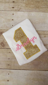 Custom Gold/Pink Birthday Shirt
