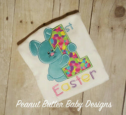 First Easter Shirt, Bunny Shirt, Easter, 1st Easter, Custom Easter Shirt, Easter Outfit, 1st Easter, Personalized Easter Shirt