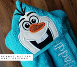 Ice Friendly Snowman Hooded Towel