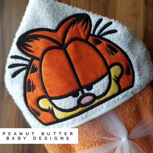 Lazy Cat Hooded Towel