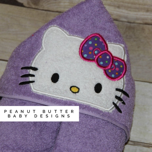 Hello Cat Hooded Towel