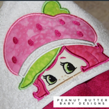 Strawberry Friend Hooded Towel