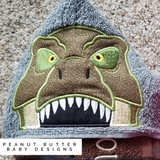 T-Rex Hooded Towel