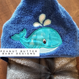 Whale Hooded Towel
