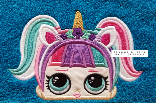 Unicorn Doll Hooded Towel