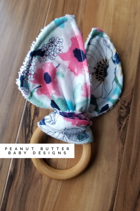 Wooden Teether - Flowers