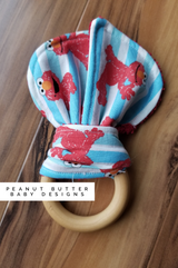 Wooden Teether - Red Monster