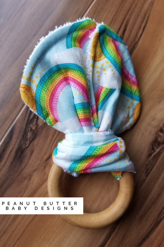 Wooden Teether -Rainbow