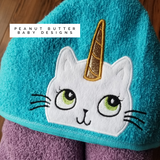 Caticorn Hooded Towel
