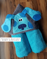 Clue Dog Blue Hooded Towel