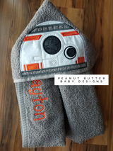Robot B Hooded Towel