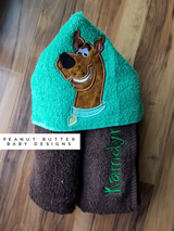 Scared Dog Hooded Towel