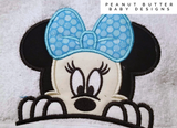 Clubhouse Friends - Blue Bow Mouse Ears Hooded Towel