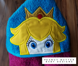 Toadstool Princess Hooded Towel