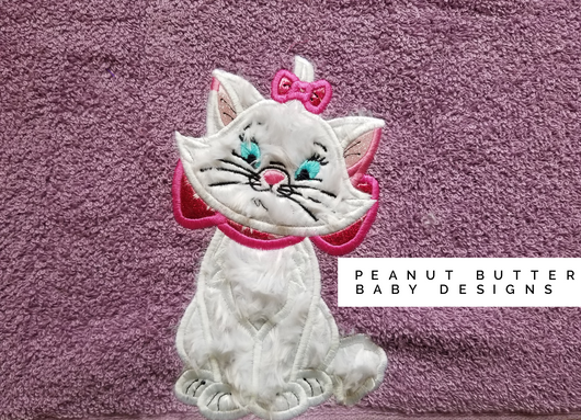 Sassy Cat Hooded Towel