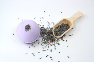 Lavender Bath Bomb with Lavender Buds