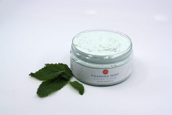 Foaming Mint Sugar Scrub (Large- 8 oz)