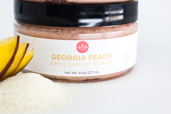 Georgia Peach Emulsified Sugar Scrub (Large- 8 oz)