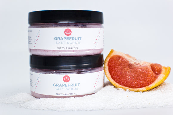 Grapefruit Salt Scrub (Large- 8 oz)