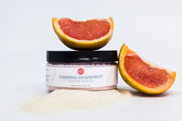 Foaming Grapefruit Sugar Scrub (Large- 8 oz)
