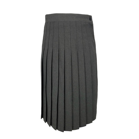 Betty Z Ladies Sewn Down Skirt - Charcoal Poly