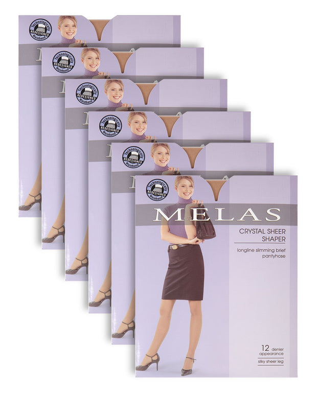 Melas Sheer Shaper 12 Denier Stockings 6 Pack AS6116