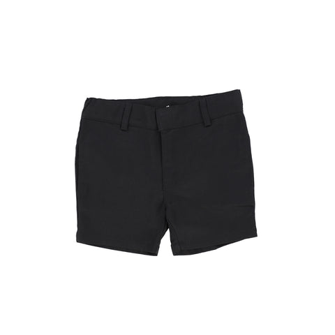 Lil Legs Flat Cotton Shorts - Black