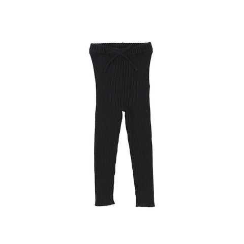 Analogie Knit Long Leggings - Black