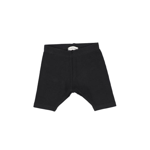Lil Legs Ribbed Shorts - Black