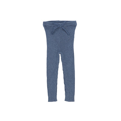 Analogie Knit Long Leggings - Blue
