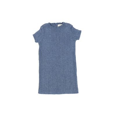 Analogie Short Sleeve Knit Sweater - Blue
