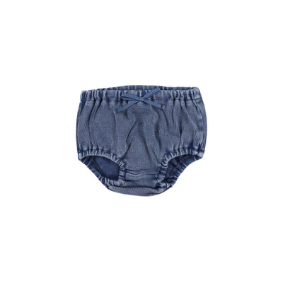 Lil Legs Rib Bloomers - Blue Wash
