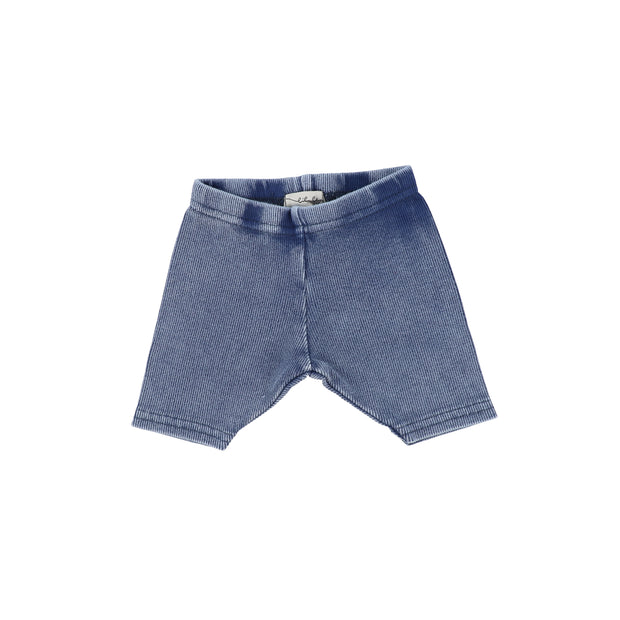 Lil Legs Ribbed Shorts - Blue Wash
