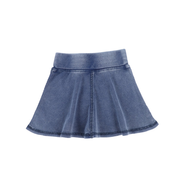 Lil Legs Ribbed Skirt - Blue Wash