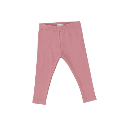 Lil Legs Ribbed Leggings - Blush