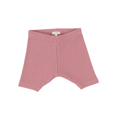 Lil Legs Ribbed Shorts - Blush