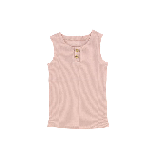 Lil Legs Ribbed Tank - Blush