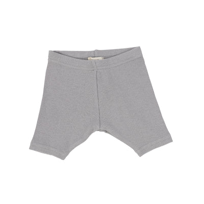 Lil Legs Ribbed Shorts - Dark Grey
