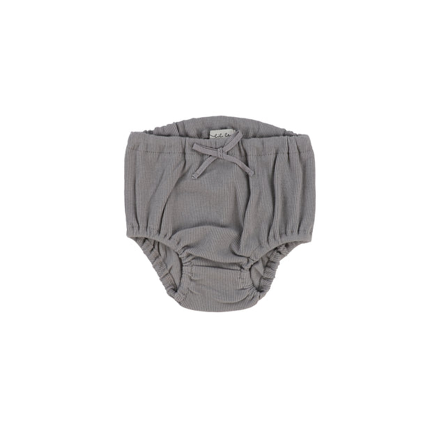 Lil Legs Rib Bloomers - Dark Grey