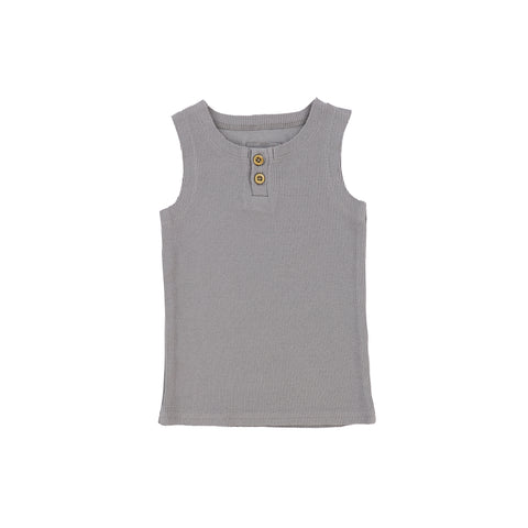 Lil Legs Ribbed Tank - Dark Grey