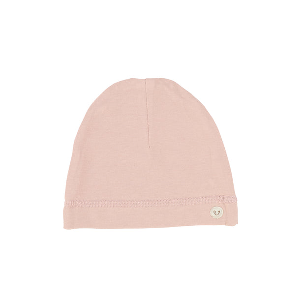 Lillette Brushed Cotton Wrapover Beanie - Dusty Pink