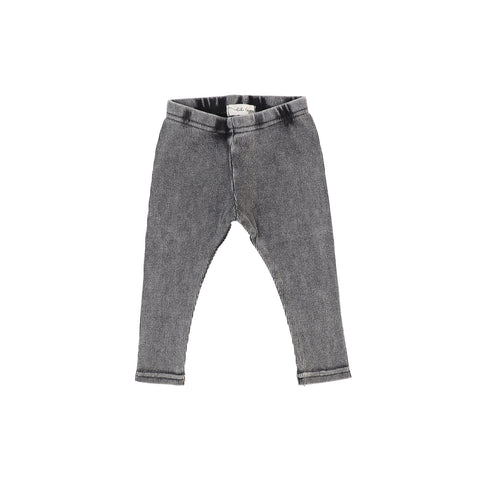 Lil Legs Ribbed Leggings - Grey Wash
