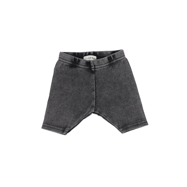 Lil Legs Ribbed Shorts - Grey Wash