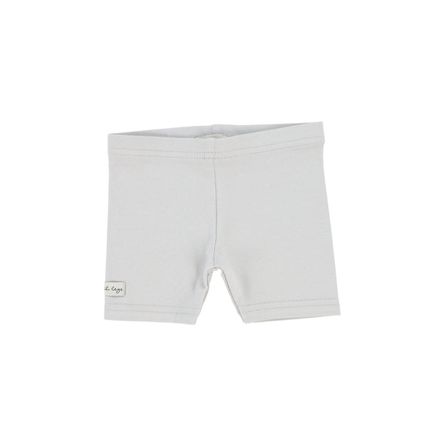 Lil Legs Biker Shorts - Light Grey