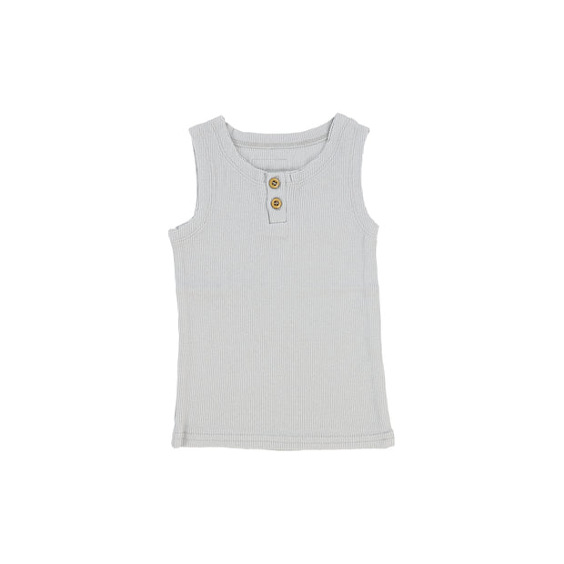 Lil Legs Ribbed Tank - Light Grey