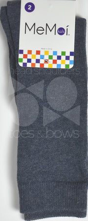 Memoi Basic Solid Knee Socks Dark Denim MK-5056